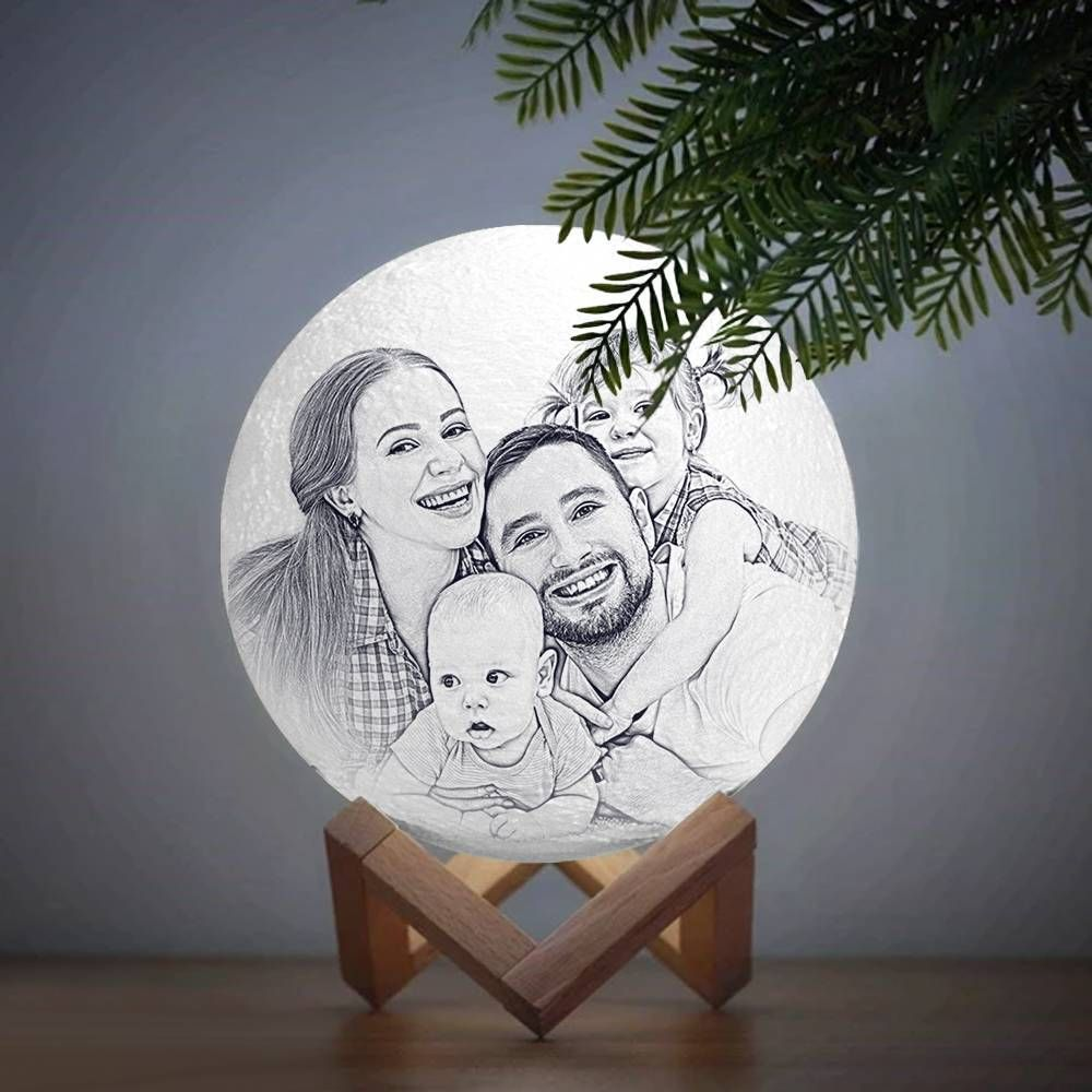 Personalisierte Mondlampe Mit Foto 2 Farbe In 2020 Mond Lampe Lampe Nachtlicht