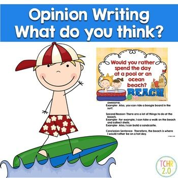 Would Your Students Rather Spend The Day At A Pool Or The Ocean Beach This Topic Will Be An Easy One Opinion Writing Opinion Writing Prompts Classroom Writing