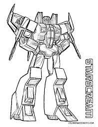 Starscream Transformers Coloring Sheet Desenho De Personagens