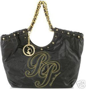 Babyphat Baby Phat By Kimora Lee Simmons Fabulous Black Gold Handbag