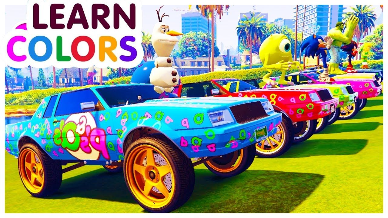 Learn Color Vehicle With Small Car Colours Cartoon For Kids
