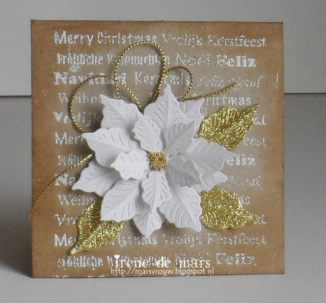 card christmas flower poinsettia petra Marianne design Ireneu0027s