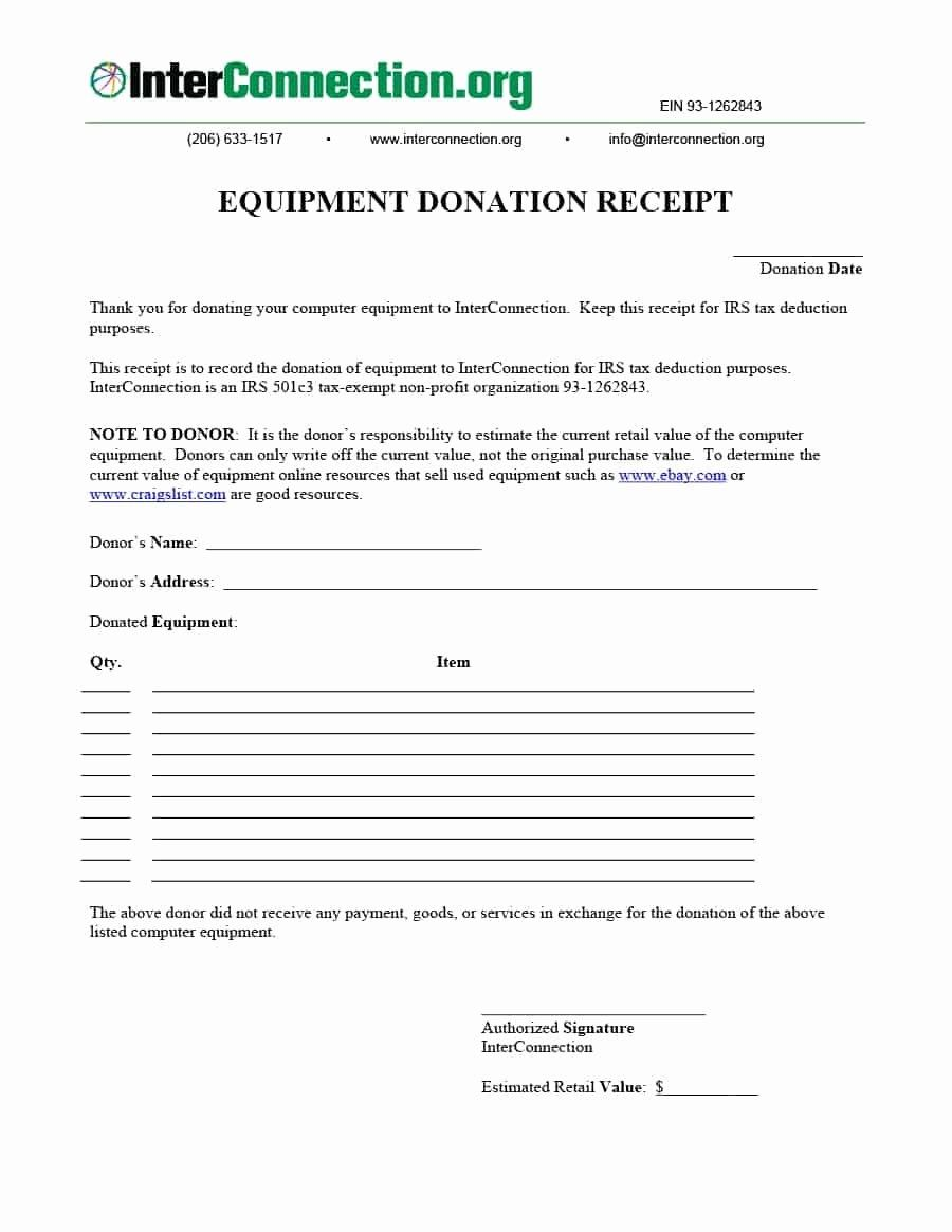 New 40 Donation Receipt Templates & Letters [goodwill Non