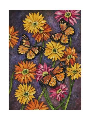 Spring Flowers Giclee Print Set of 4   Flower canvas art