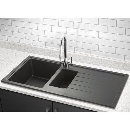 Built To Highest Standards The Horizon Will Stand The Test Of Time And Still Look As Good As Composite Kitchen Sinks Granite Kitchen Sinks Black Kitchen Sink