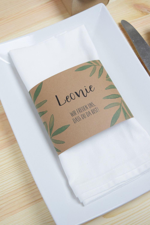 Servietten servietten banderole grüne liebe tischkarte ein designerstück von papiergold bei dawanda