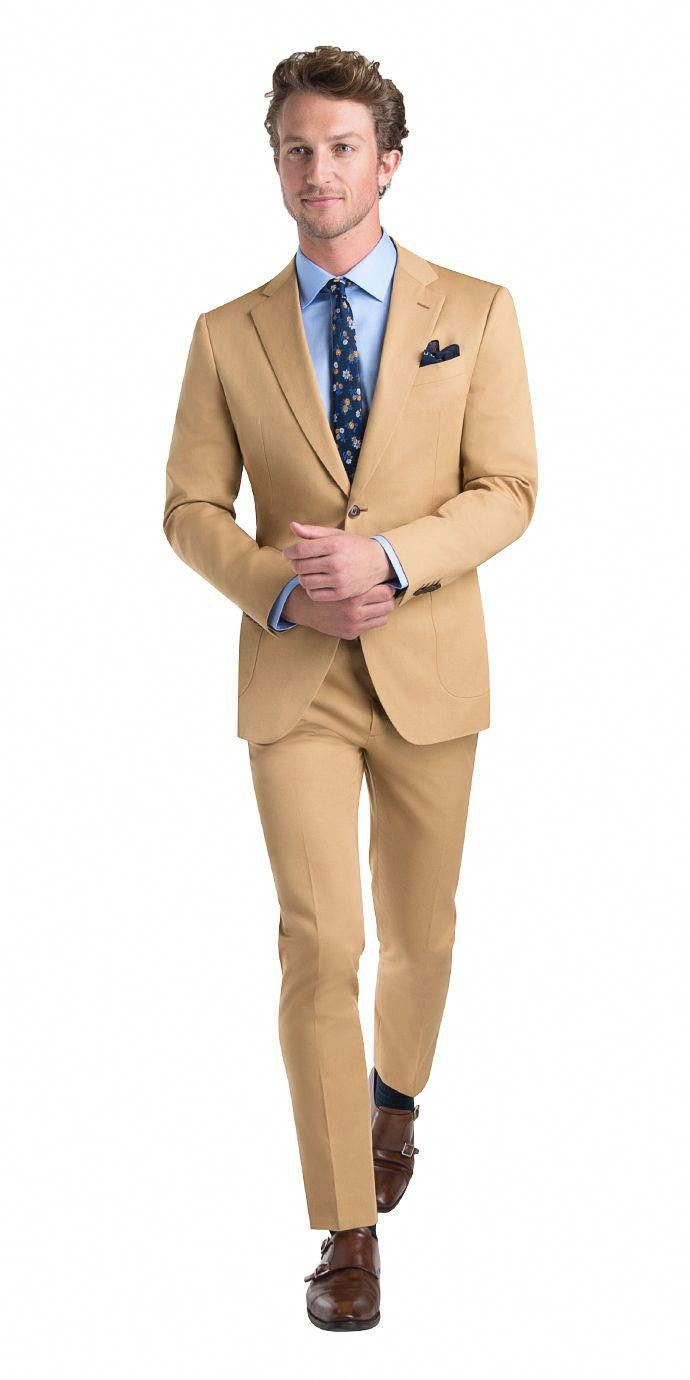 Mens Tan Suit Three Piece | Available With Custom Size