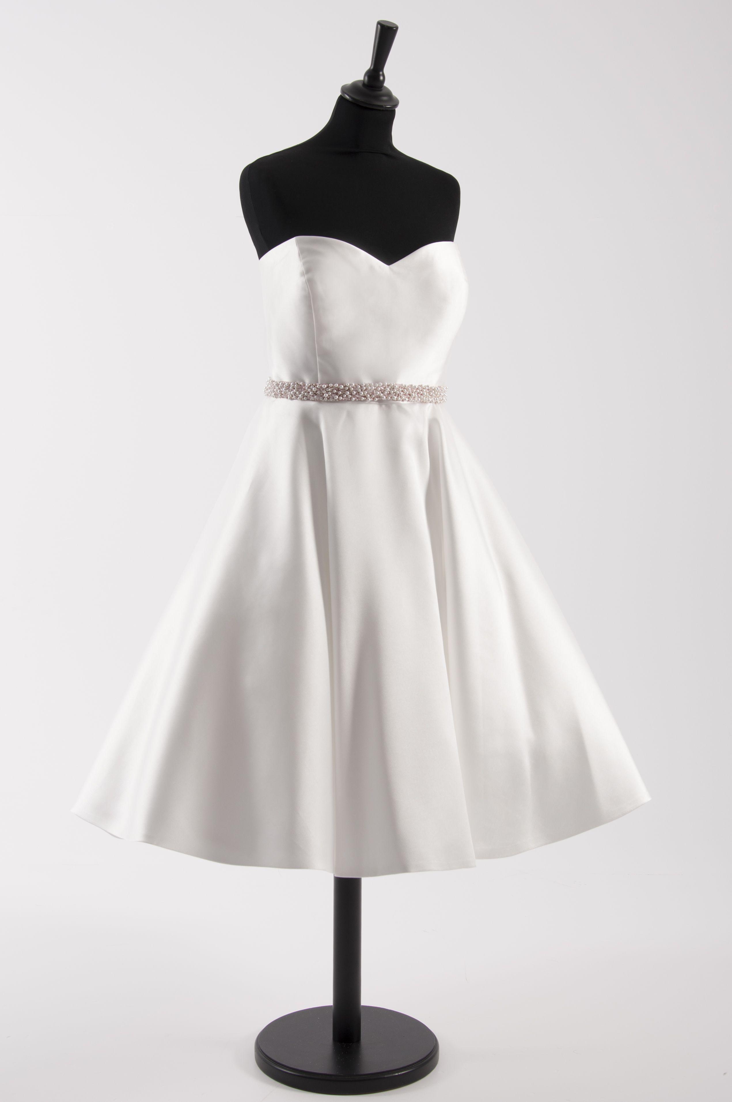 Tea length plus size wedding dresses  House of Mooshki original PLUS SIZE short tea length wedding dress
