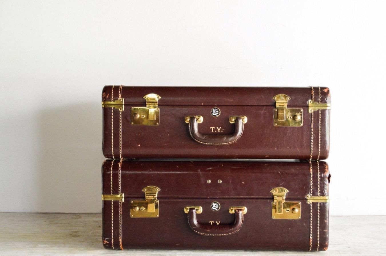 Old Suitcases Suitcases Luggage Set Old Luggage Gorgeous Oxblood Burgundy Red