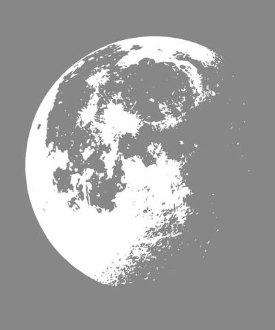 Vinyl Wall Decal Sticker Moon flowing in Space #523 | Stickerbrand wall art decals, wall graphics and wall murals.
