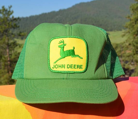5533743d8ab ... official store 80s vintage trucker mesh hat john deere green patch  tonkin snapback baseball cap rockstar