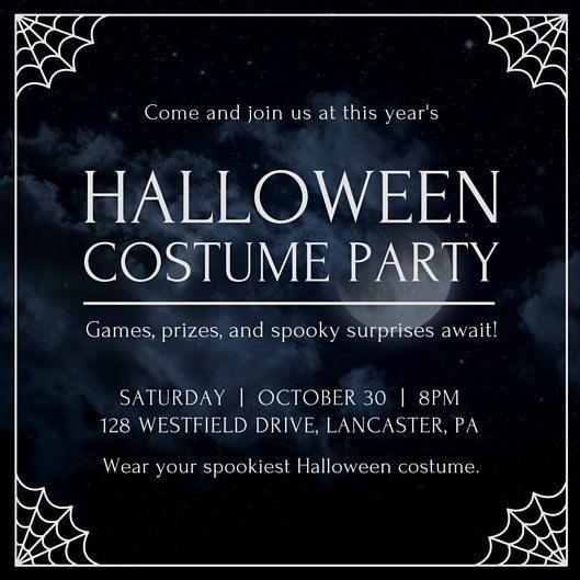Halloween Party Invitation Templates Canva With Halloween Party Invitat Party Invite Template Halloween Party Invitation Template Halloween Party Invitations