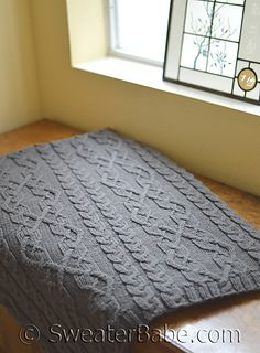 Threaded Cables Throw. A gorgeous compliment to any living room!