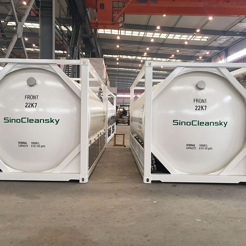 40ft ISO Tank Container LNG with Cryogenic LNG Pump in