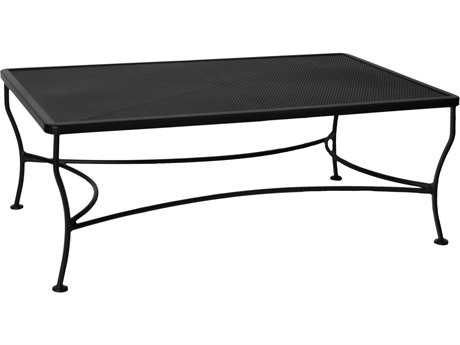 c416c25f7be3 OW Lee Mesh Wrought Iron 48 x 30 Rectangular Coffee Table