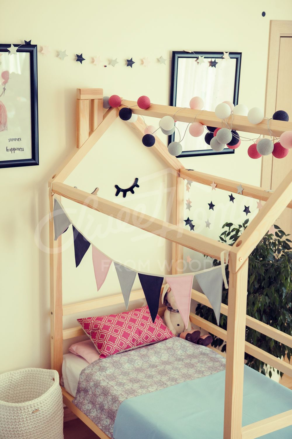 Kid Nursery Frame Bed For Children Nursery Bed Montessori