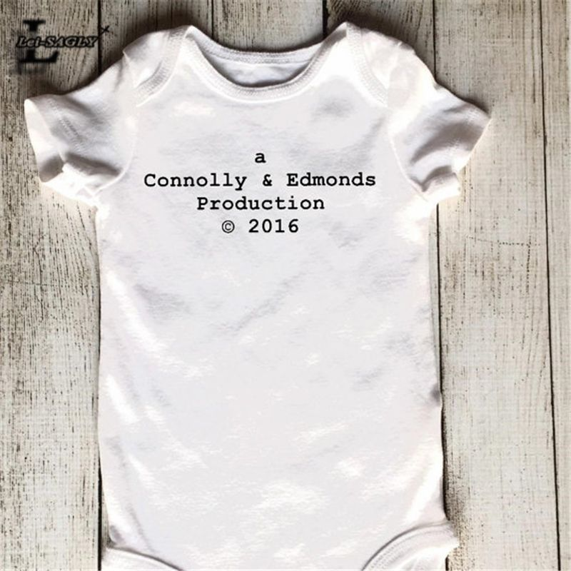 Wholesale letter printed baby rompers short sleeve breathable cute custom personalized baby gift a production onesie perfect gender neutral gift for a baby boy or baby girl many of our customers also use negle Gallery