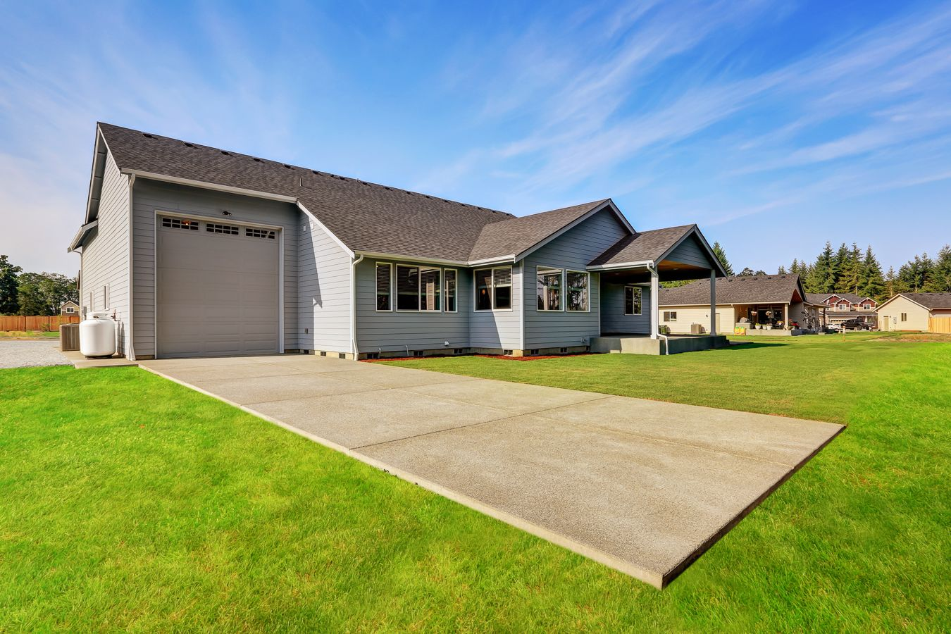 This Rv Garage Bay Attached To The House Features A Full Sized Rv Door On The Front And Back Home Design Plans Rv Garage Real Estate