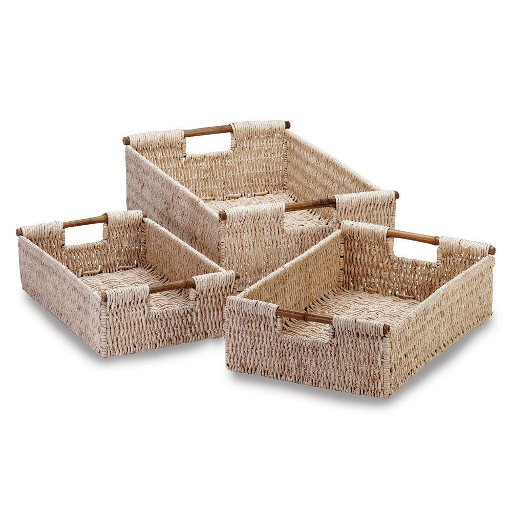 Corn Husk Nesting Baskets - Tightly woven cornhusk baskets with ...