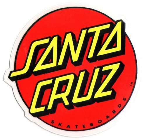 Santa cruz classic logo skateboard sticker large skate board skating skateboarding modern decal made
