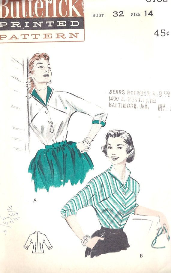 1950s Rockabilly Blouse | Retro | Pinterest | Rockabilly, 1950s and ...