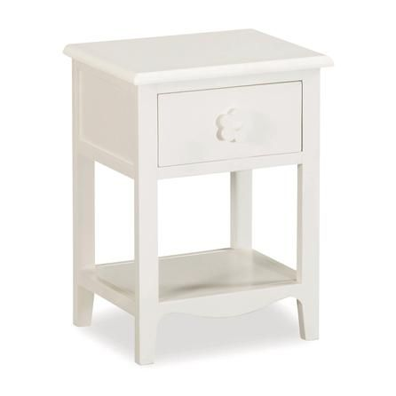 Daisy 1 Drawer Bedside Unit   Dunelm Mill Children's but less than £50 and change drawer handle White 44x34x58