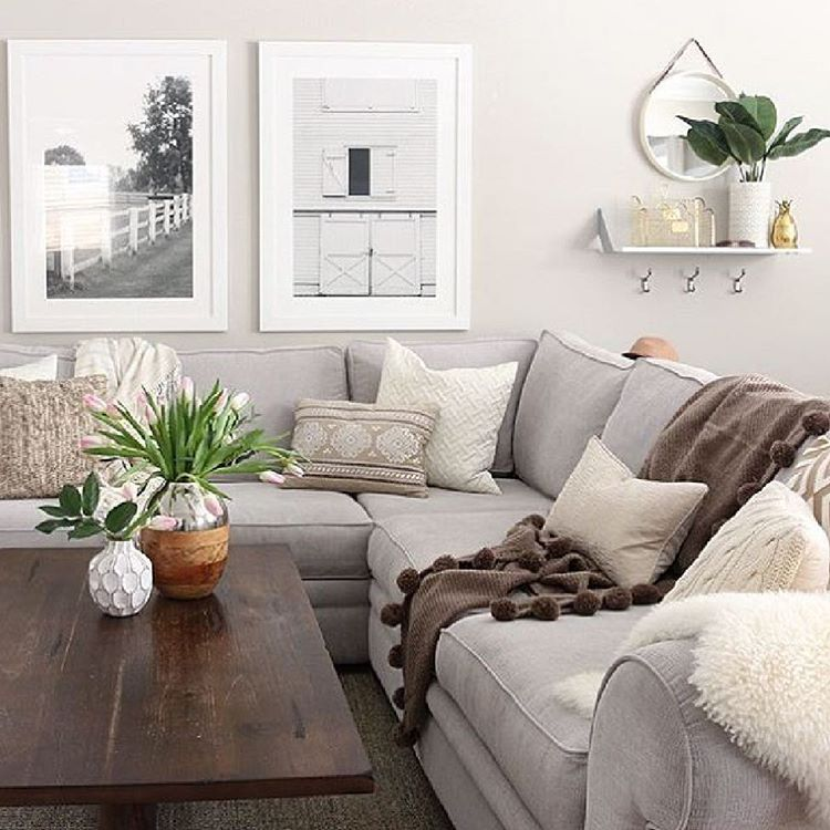Homegoods On Instagram Earth Tones Create A Space That Feels Warm And Farm House Living Room Modern Farmhouse Living Room Decor Modern Farmhouse Living Room