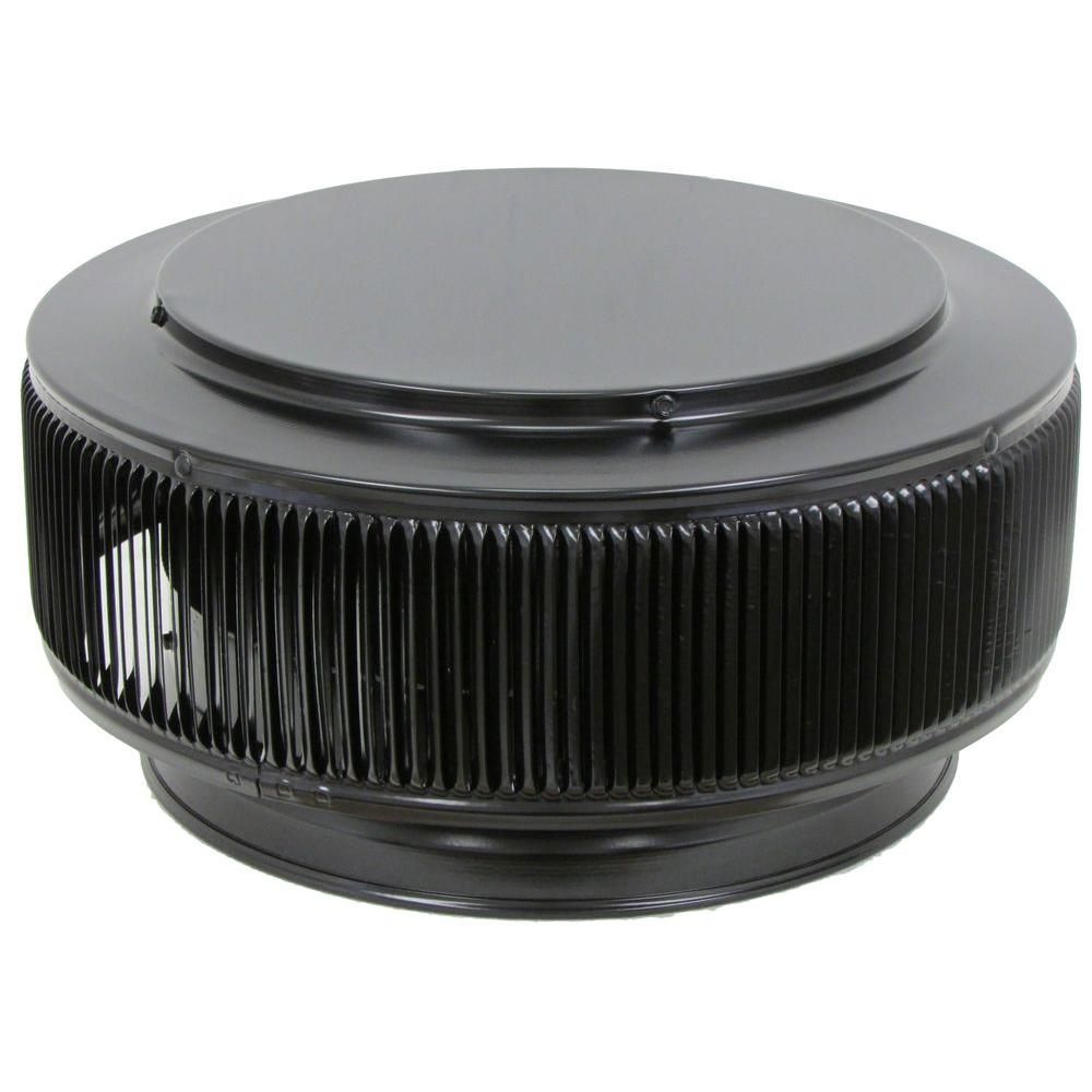 Aura PVC Vent Cap 12 in. Dia Exhaust Vent with Adapter to Fit Over 12 in. PVC Pipe in Black Powder Coat