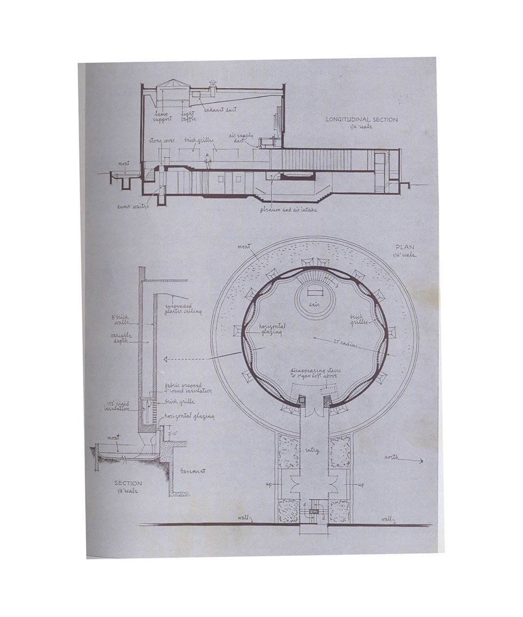 Mit Chapel Eero Saarinen Plan And Section Capelas