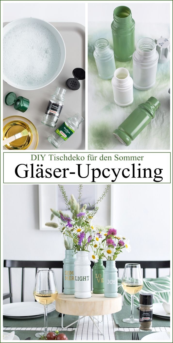 Photo of Nice decoration idea for the summer table: upcycling vases made of glasses