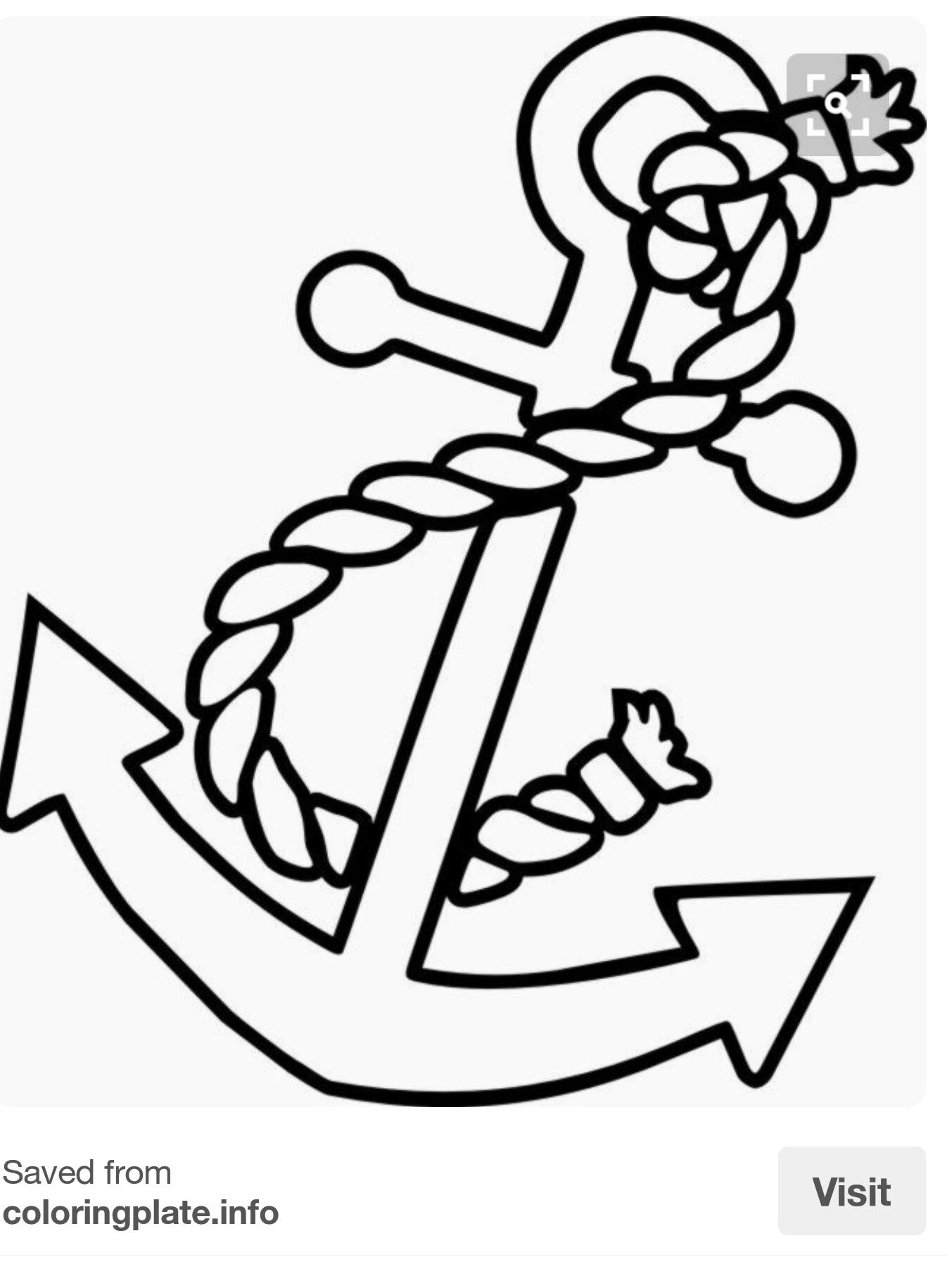 Anchor away boats coloring pages anchor painting anchor stencil