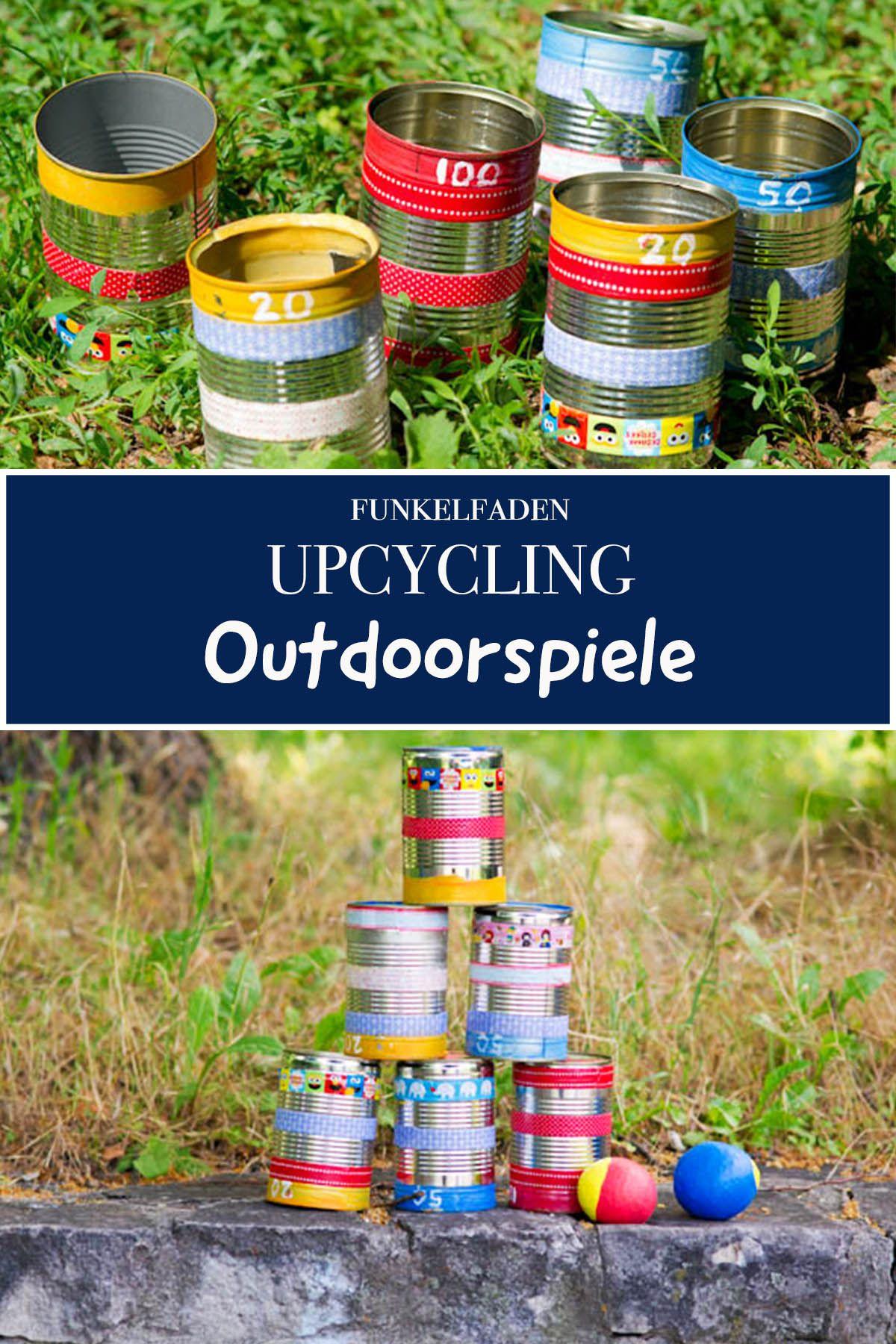 Upcycling Ideen Für Outdoorspiele Gartenspiele Aus Dosen Basteln Gartenspiele Spiele Selber Basteln Basteln Spiele