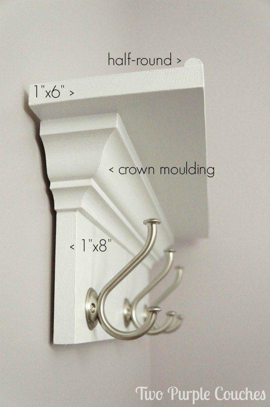 How To Build A Wall Shelf With Hooks Wall Shelf With Hooks Diy