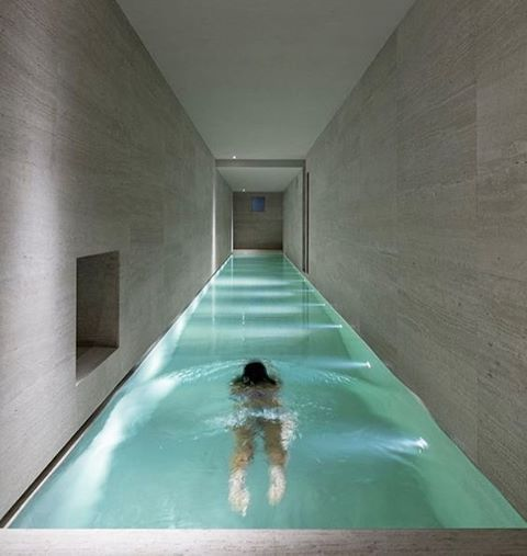 The Pool Inside House In Montalcino Italy Designed By Marco Pignattai See More Swimmingpool Designs On Designboom Image Fausto Mazza