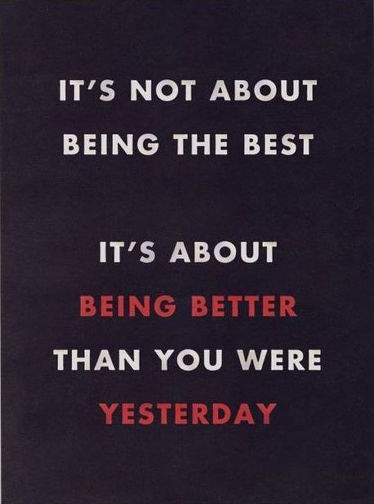 It S Not Always About Being The Best Positive Quotes Life Quotes Great Quotes