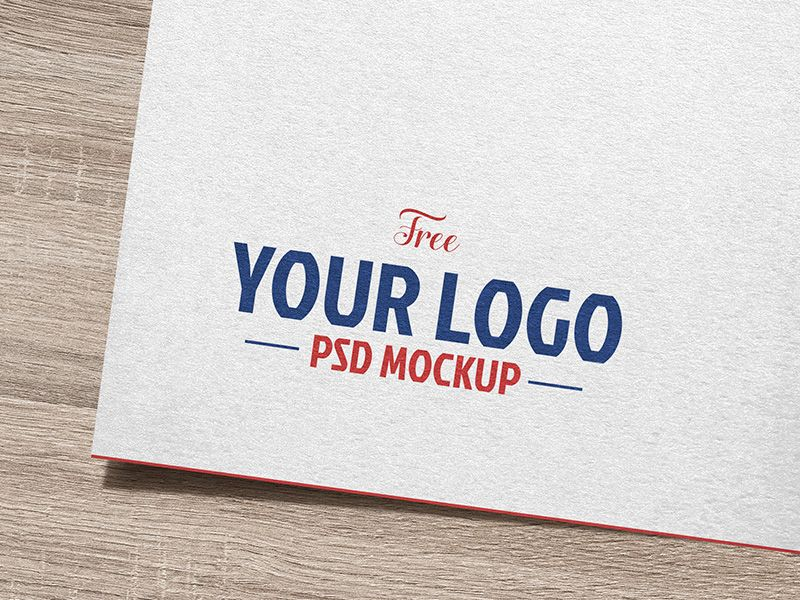 Mockup template featuring a logo design or canvas art on a