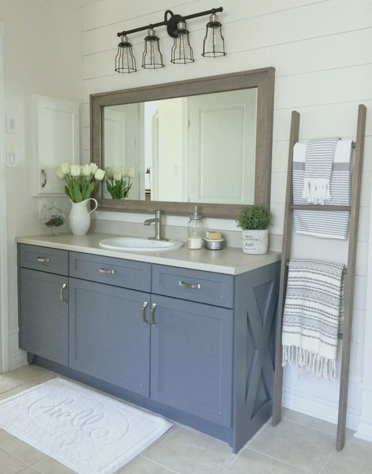 A Budget Farmhouse Bathroom Refresh Willow Bloom Home Farmhouse Bathroom Bathroom Refresh Bathroom Mirror Design
