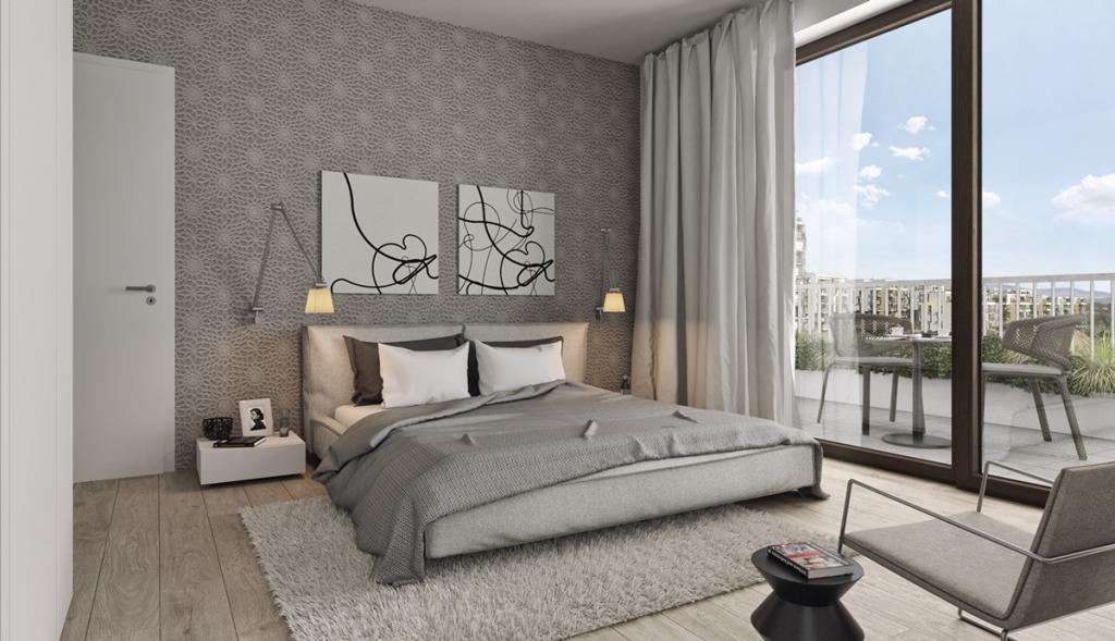 Best Bedroom Roman Dibarbora Simple Gray Bedroom Gray Accentd 640 x 480