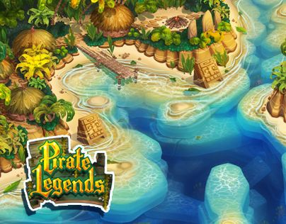 Pirate Legends TD Background 1 | Illustrations | Environment concept