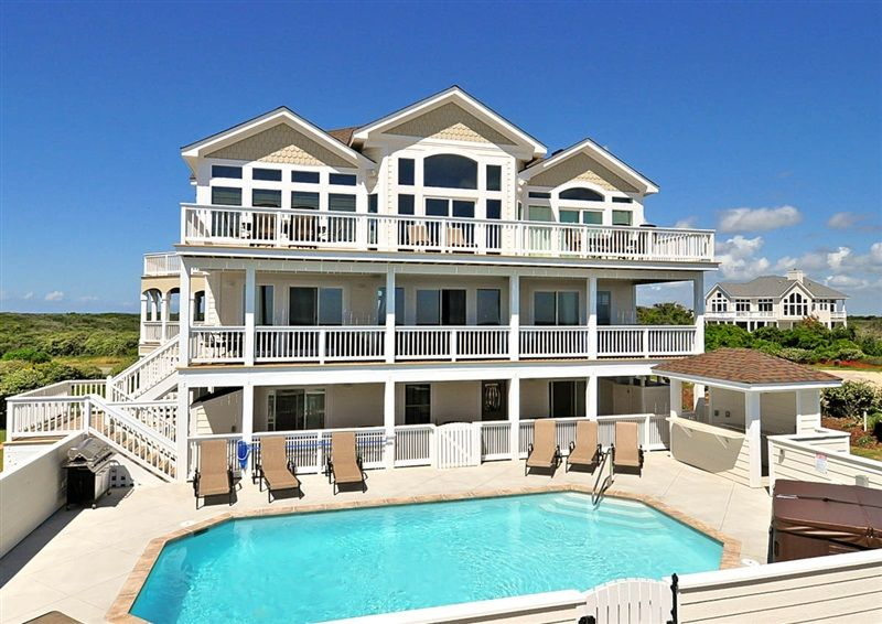 Corolla Beach Houses Part - 43: Twiddy Outer Banks Vacation Home - Endless Horizon - Corolla - Oceanfront -  8 Bedrooms