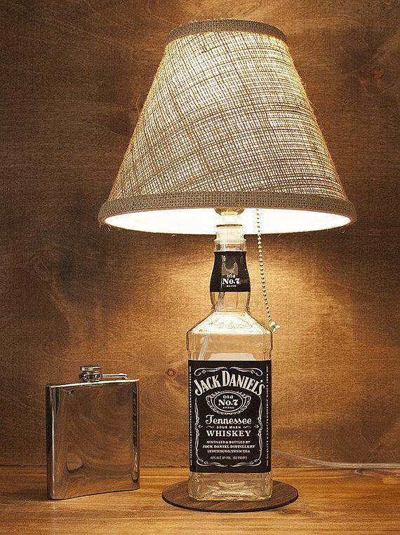 DIY Man Cave Lighting Ideas Jack Daniel's Whiskey Bottle