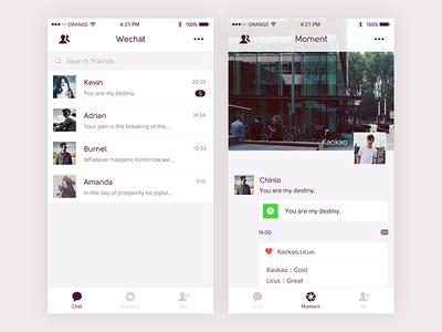 Wechat Redesign Redesign, Design, Mobile design
