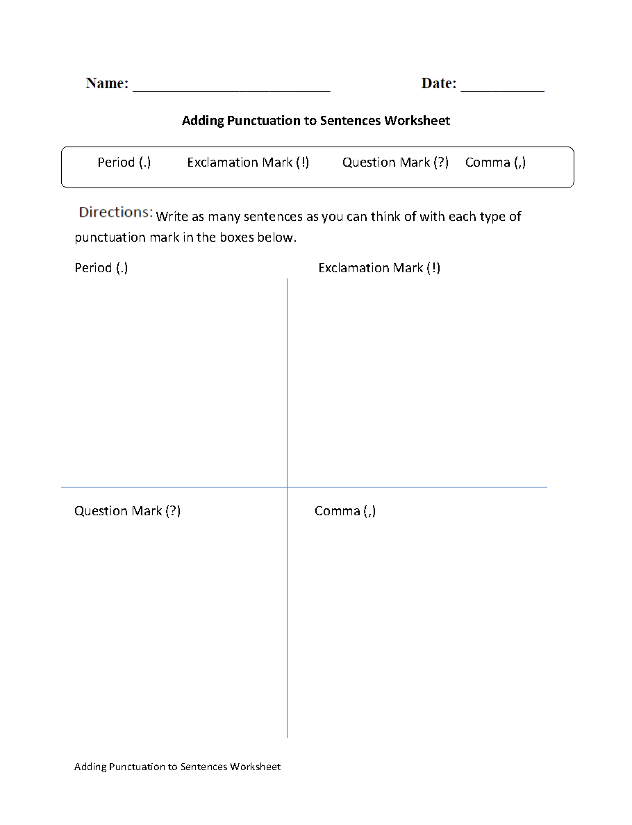 small resolution of Englishlinx.com   Punctuation Worksheets   Punctuation worksheets