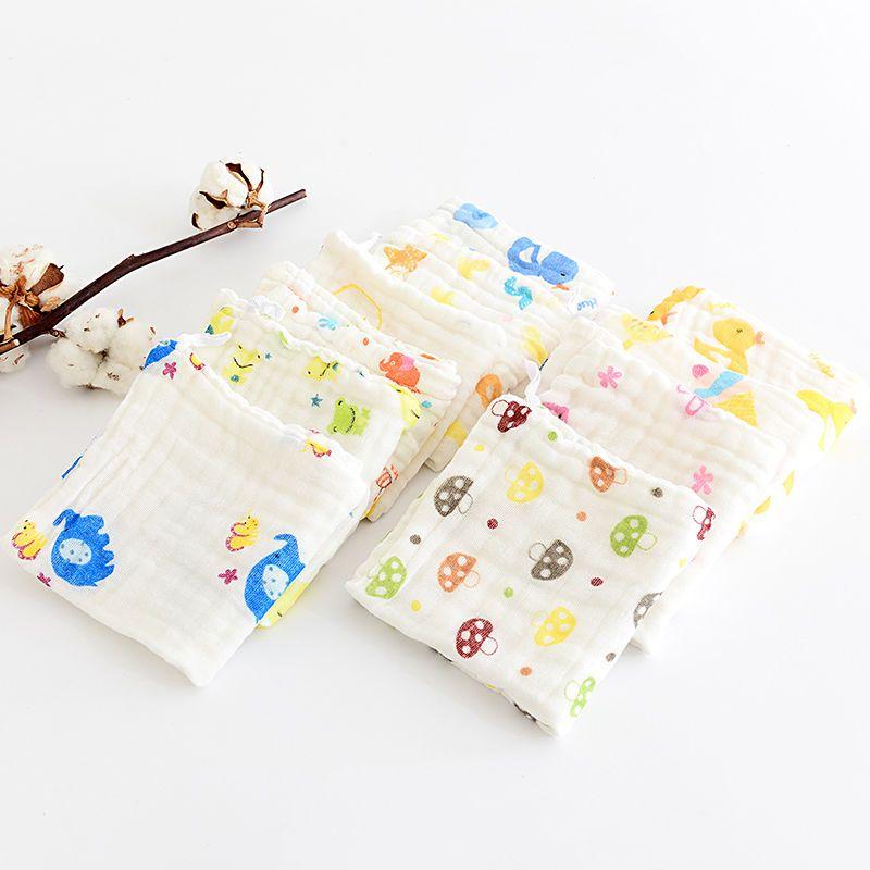 Cartoon Soft Cotton Baby Newborn Bath Towel Washcloth Feeding Wipe Face Cloth BD