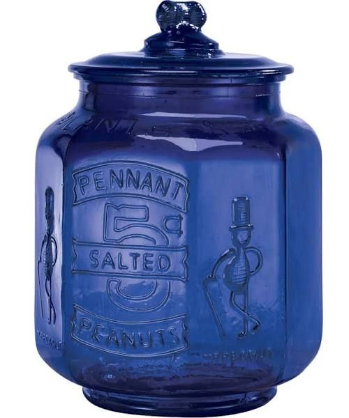Cobalt Blue Glass With Images Blue Glass Planters Nuts Decorative Jars