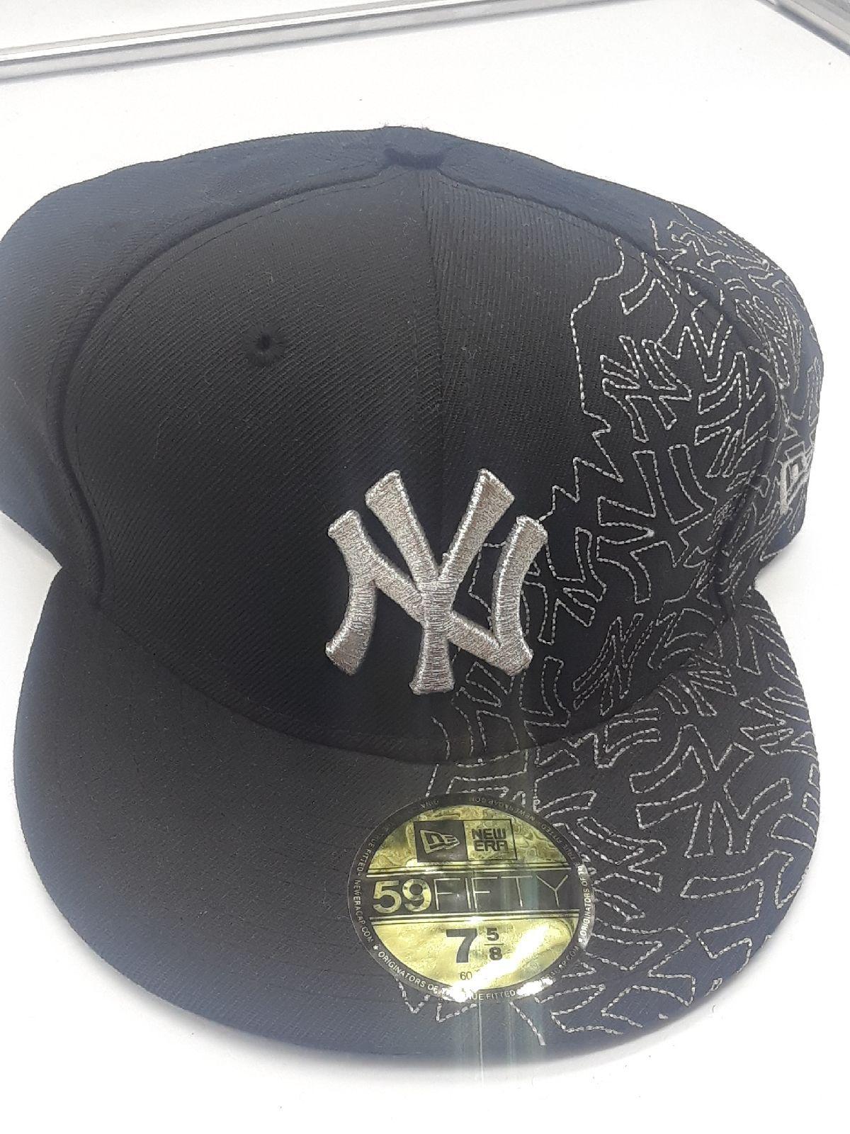 New York Yankees Black Team Gem New Era 59Fifty Fitted