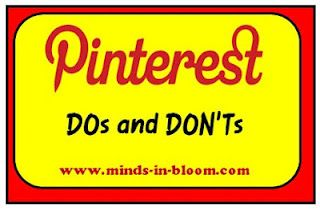Good tips for using Pinterest as well as information about copyrights.