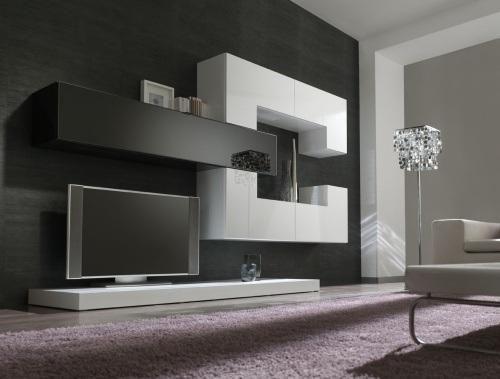 Mettre 2 Couleurs Differentes Meuble Moderne Mobilier De Salon Meuble Tv Suspendu
