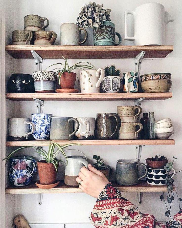 Mug Shelf-between window and door in kitchen