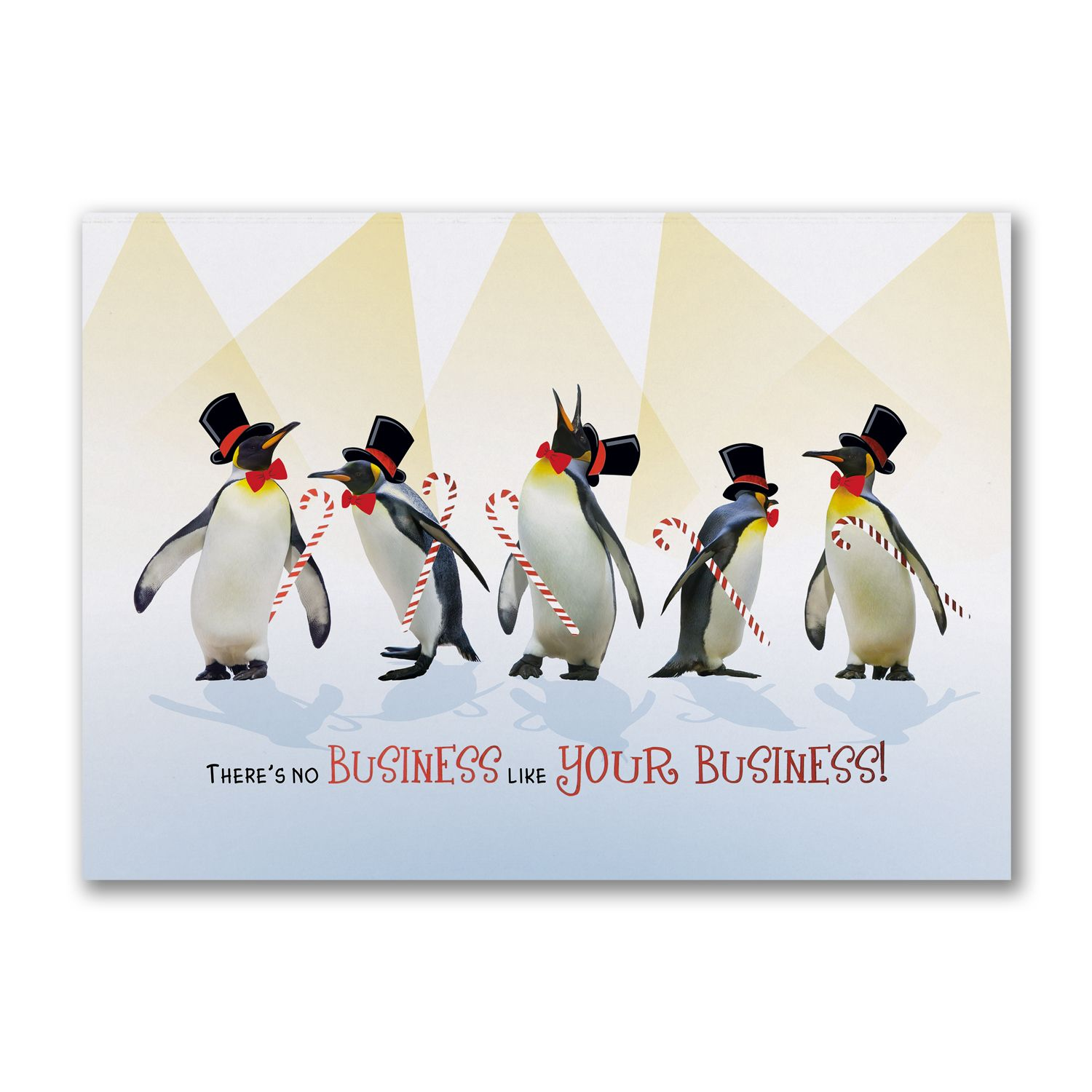 Grateful Penguins Personalized Business Holiday Cards http ...